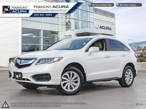 Pre-Owned 2017 Acura RDX TECH PKG - NO ACCIDENTS - ONE OWNER - NAVI SYSTEM - BACKUP CAM - SUNROOF - FACTORY WARRANTY