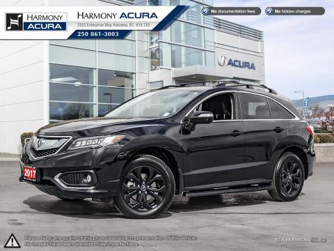 Pre-Owned 2017 Acura RDX ELITE PKG - LOCAL BC VEHICLE - ONYX PACKAGE - ROOF RACK - CROSS BARS - ACURA WATCH - LEATHER - NAVI