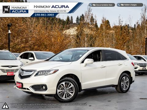 Certified Pre-Owned 2017 Acura RDX ELITE PKG - ACURA CERTIFIED - NO ACCIDENTS / DAMAGE - LOCAL BC VEHICLE - LEATHER INTERIOR