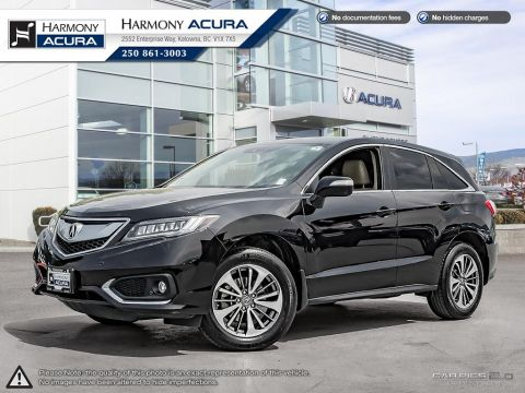 Certified Pre-Owned 2017 Acura RDX ELITE PKG - ACURA CERTIFIED - NO ACCIDENTS / DAMAGE - FACTORY WARRANTY - REAR CLIMATE CONTROL - NAVI