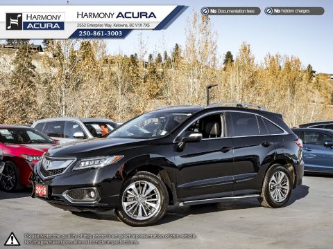 Certified Pre-Owned 2016 Acura RDX ELITE PKG - FULLY SERVICED - NEW BATTERY - 4 NEW TIRES - A/C & ENGINE FILTERS RECENTLY REPLACED