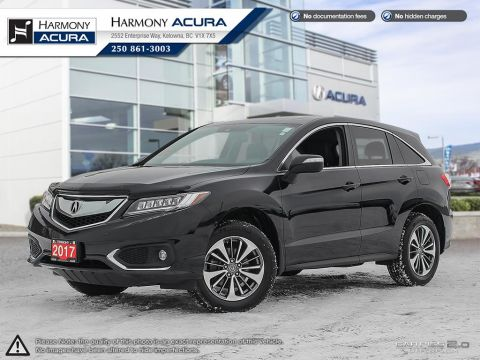 Pre-Owned 2017 Acura RDX ELITE PKG - COOLED AND HEATED SEATS - PUSH BUTTONS START - LEATHER INTERIOR - ALL WEATHER MATS PKG