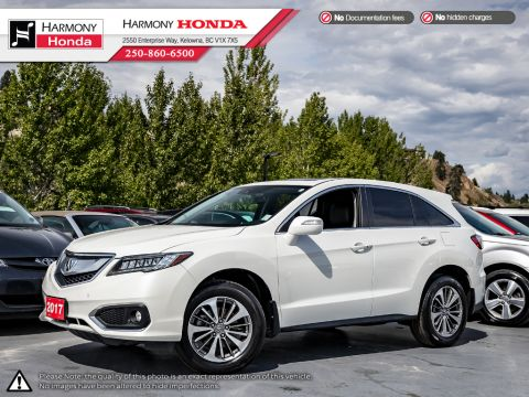 Pre-Owned 2017 Acura RDX ELITE PKG - FACTORY WARRANTY - BC VEHICLE - LOW KMS - FULLY SERVICED - NON-SMOKER DRIVEN