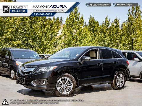 Certified Pre-Owned 2017 Acura RDX ELITE PKG - ACURA CERTIFIED - NO ACCIDENTS OR DAMAGE - ONE OWNER - WELL SERVICED - LOCAL BC SUV