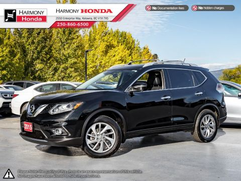 Pre-Owned 2015 Nissan Rogue SL - BC VEHICLE - ONE OWNER - BACKUP CAMERA - NAVIGATION SYSTEM - BLUETOOTH - PANORAMIC SUNROOF