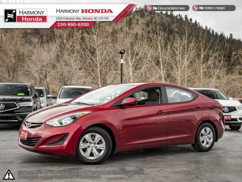 Pre-Owned 2016 Hyundai Elantra SE - BC VEHICLE - ONE OWNER - NEW BRAKES - 173 HP - WELL SERVICED - PLENTY OF STORAGE SPACE