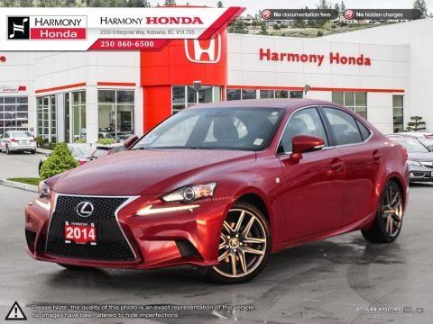 Pre-Owned 2014 Lexus IS 250 LOW KMS - NON-SMOKER DRIVEN - WELL SERVICED - NEW BATTERY - F-SPORT PACKAGE - PET FREE