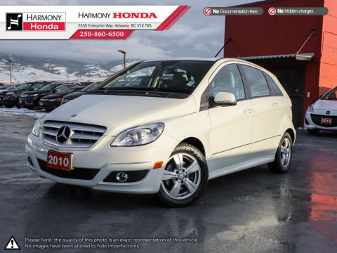 Pre-Owned 2010 Mercedes-Benz B-Class B200 - BC VEHICLE - NON SMOKER - LOW KM - SUNROOF - FOG LIGHTS - WELL SERVICED